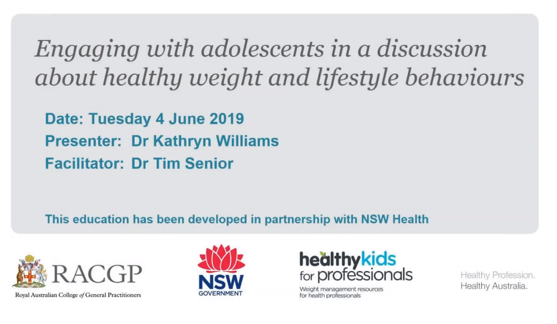 Webinar 4 Engaging with adolescents