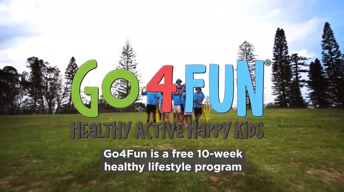 Children participating in Go4Fun